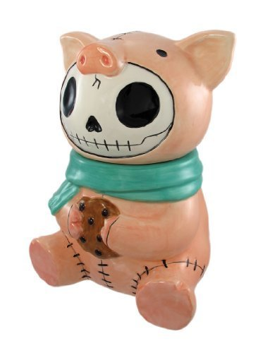 Bacon Pig Furry Bones Cookie Treat Jar by Summit Pig Cookie Jar