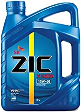 ZIC X5000 15W-40 API CH-4 / SJ VHVI TECHNOLOGY SYNTHETIC ENGINE OIL. (Approvals: Mercedes-Benz 228.3 Volvo VDS-3 MAN M 3275; Cummins 20077, Detroit Diesel 93K215, MACK EO-M Exceeds the requirements of CAT ECF-2) (5 LITER CAN)