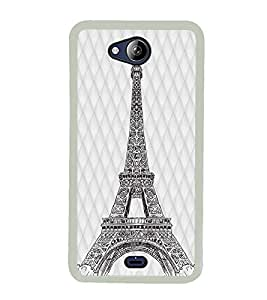 YuBingo Eiffel Tower Designer Mobile Case Back Cover for Micromax Canvas Play