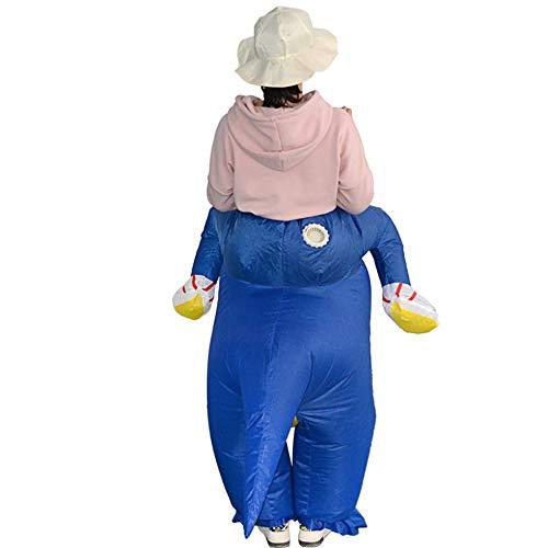 Wenwenzui Lustige aufblasbare Dinosaurier Reiten Kleidung Partei Cosplay Blowup Kostüm blau Erwachsener (Reiten Aufblasbare Dinosaurier Kostüm)