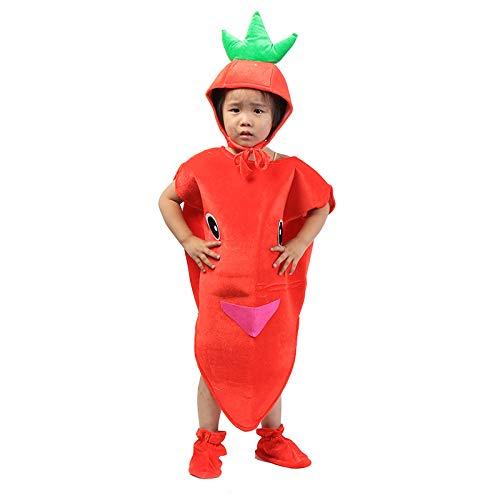 Kinder Obst Gemüse Kostüme Kinder Karotte Party Kleidung Kostüme für Halloween Cosplay Weihnachtsferien Kleinkind Jungen ()