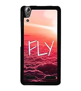 Fly 2D Hard Polycarbonate Designer Back Case Cover for Lenovo A6000 Plus :: Lenovo A6000+ :: Lenovo A6000