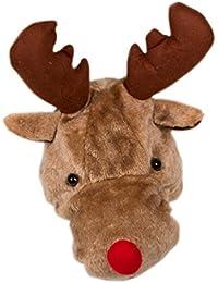 Ca 30 Modelle Weihnachtsmütze Nikolaus Mütze Weihnachtsmützen Xmas Mützen (Rentier Elch Gesicht Rudolf WM0511026)