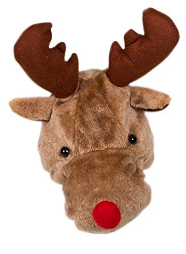 Braun Elch (Weihnachtsmütze Nikolausmütze Mütze Weihnachten Nikolausmütze Santa Christmas Nikolaus Elch Kopf Braun 3 D Look)