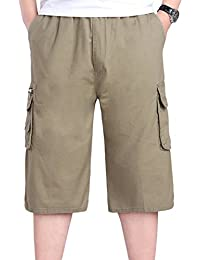 Simgahuva Men 's Classic Fit Cargo Short Sportswear Shorts Plisados yi9V5Tm