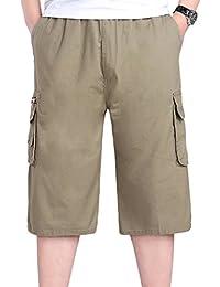 Simgahuva Men 's Classic Fit Cargo Short Sportswear Shorts Plisados