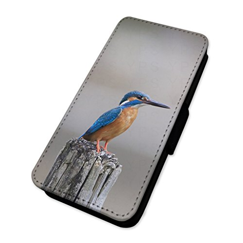 Stunning Kingfisher uccello acquatico – Flip cover in pelle copertura di carta Apple iPhone 4/4S