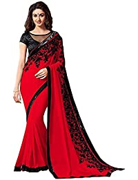 Navabi Export Women's Georgette Saree with Blouse Piece