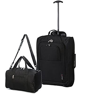 Ryanair Cabin Approved 55x40x20cm & Second 35x20x20 Hand Luggage Set - Carry On Both!