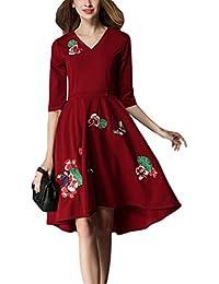 8ed2bf3c8519 Amazon.es: cuellos bordados - L / Vestidos / Mujer: Ropa