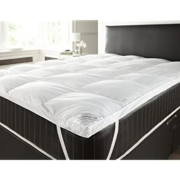 goose feather and down duvet mattress topper double white