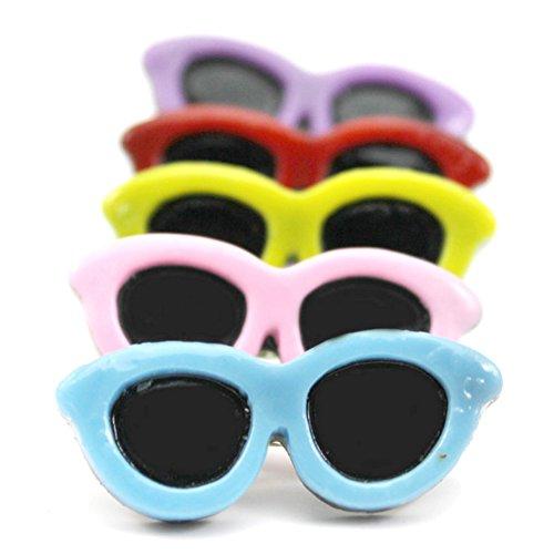 Kunststoff Pet Sonnenbrille Haarspange Kopfschmuck Hund Haar Clip Pets Head Accessoires 5x