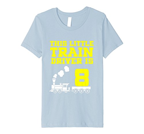 Kinder 8th Birthday Girls Train T Shirt Tank Engine 8 Year Old
