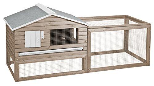 Duvo+ Woodland Clapier Snoozer Cottage/Cage pour Petits Animaux