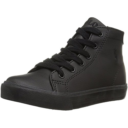 Polo Ralph Lauren Slater Mid Triple Black Synthetic Youth School Shoes