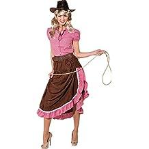 Damen Kostum Indianerin Asymmetrisch Mit Fransen Squaw Western Cowgirl