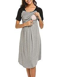3c25904bb Vestidos Premama Verano SHOBDW Empalme de Color Vestidos Mujer Ropa de  Maternidad Moda 2019 Ropa Premamá