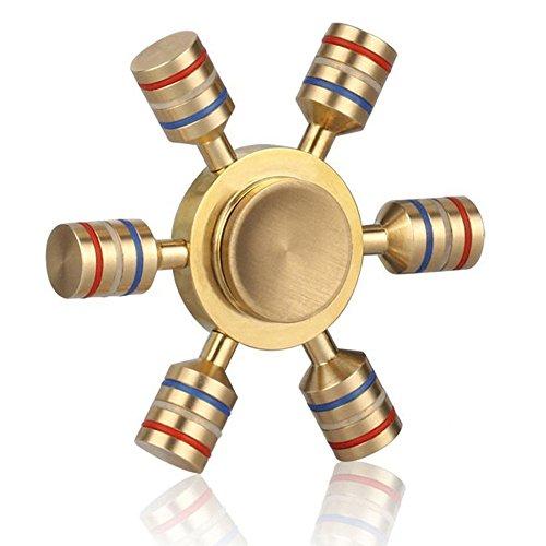 Preisvergleich Produktbild Fidget Spinner, Lamshaw 2017 Neu Handspinner Finger Spielzeug Glow im Dunkeln (Gold)