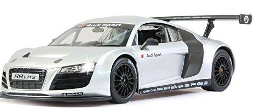ferngesteuertes formel 1 auto RC Audi R8 LMS Version ferngesteuertes Lizenz-Auto, inkl. ALLEN Batterien, silber, Maßstab 1:14 oder 1:24 (Maßstab.: 1:14)