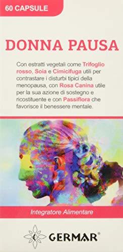 Germar Donna Pausa Aiuto Nella Menopausa - Vampate di Calore e Insonnia, Estratti di Trifoglio, Cimicifuga, Passsiflora - 30 g
