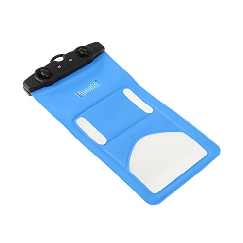 MagiDeal Wasserdichte Handyhülle , Touch Screen Handytasche , Staubdichte Schützhülle Für Iphone 5 / Iphone 6 , Verschluss Clip-Design - Orange Blau