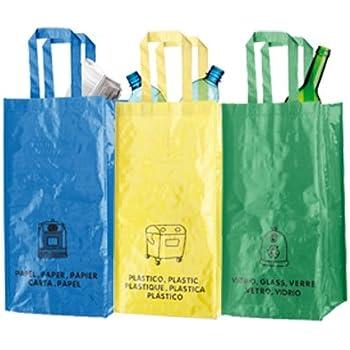 Set di Borse sacche per la raccolta differenziata in TNT laminato