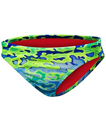 TYR Serenity Mini Bikini Bottom Schwimmen Ausrüstung, Blau/Grün, X-Large