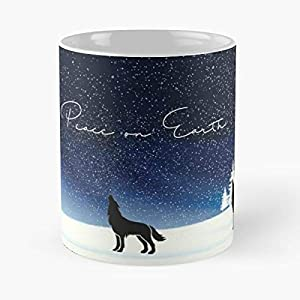 Wolves Christmas Greetings Cards - Coffee Mug Tea Cup Gift 11oz Mugs The Best Holidays.