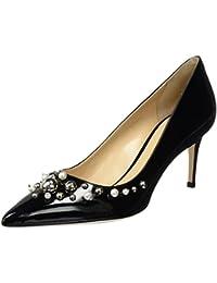 Paul-90 W/ACC.Strass, Zapatos de Tacón para Mujer, Negro (Nero Vel.), 40 EU Deimille