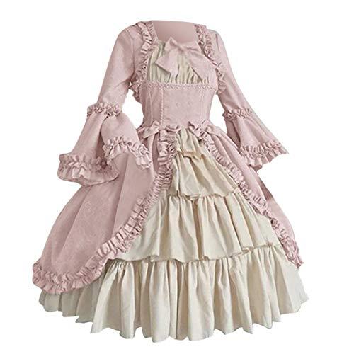 Anne Boleyn Kleid - Huacat Mittelalterliches Kleid Damen Mittelalterliche Kleid