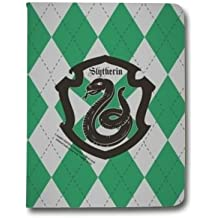 Leather flip Case carcasa iPad Air 2 WB License harry potter ecole - slytherin B