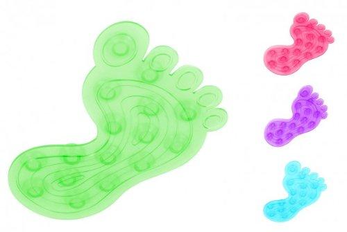 Antirutschpad Füße 4-tlg. - 9 x 13,5 cm - Duschmatte - Antirutschmatte - Badewanneneinlage - Wanneneinlage - Anti Rutsch Stopper, Farbe:Grün