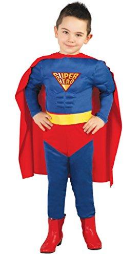 Guirca-Kostüm Superman, Größe 5-6Jahre, Blau (82670)