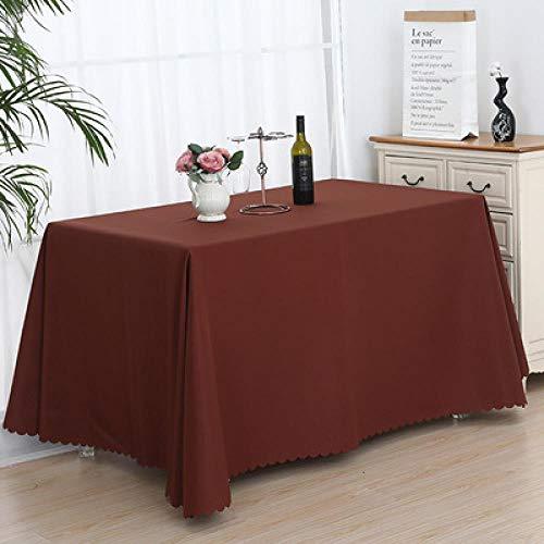 SKSK Brown Ausstellungshalle Tischdecke Ausstellung Veranstaltung Schild Tischdecke Büro Konferenztischdecke Tuch 180 × 320cm