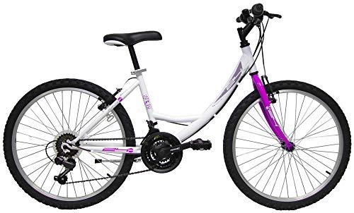 giordanoshop Bicicletta Mountain Bike MTB Ragazza 24' 18V Denver Bike Venere Bianca