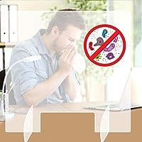 Protector De Estornudo Protector, Protector Plexiglás Acrílico Transparente para Ventanas Mostradores Y Transacciones, La Mayoría Las Encimeras Escritorio, Protección contra Tos Los Estornudos