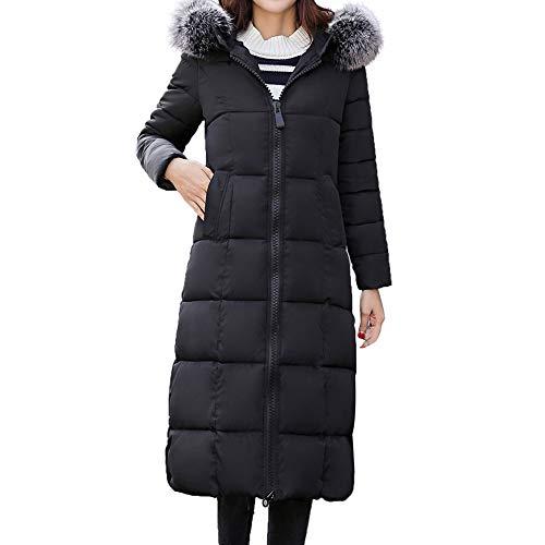 TianWlio Mäntel Frauen Weihnachten Taschen Pelz-mit Kapuze Lange Mäntel Langarm Oberbekleidung Baumwolle Gefütterte Jacken