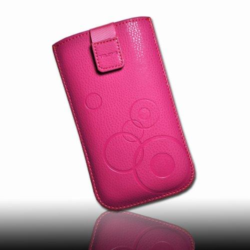 Étui de protection motifs cercles pour téléphone portable rose taille cuir synthétique-pour hTC sensation/sensation xE/desire hD, desire s/incredible s/hD7 trophy 7 mozart/hTC eVO 3D
