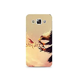 TAZindia Printed Hard Back Case Mobile Cover For Samsung Galaxy E5
