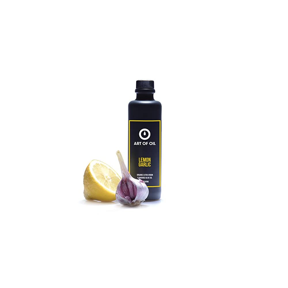 Kaltgepresstes Olivenl Mit Knoblauch Zitrone Von Art Of Oil 200ml Spanisches Bio Olivenl Mit Zitrone Ideal Zum Fisch Grillen Seafood Grillen