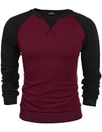 986abc8a6 Coofandy Men s Long Sleeve T-Shirt Casual Tee Cotton Raglan Shirts