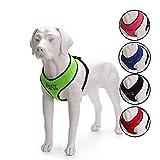 Oncpcare Hundegeschirr mit Name, bestickter Name, Telefonnummer, Haustiergeschirr, personalisiertes ID-Kragen, weiches Netz, gepolstertes Halsband für Hunde