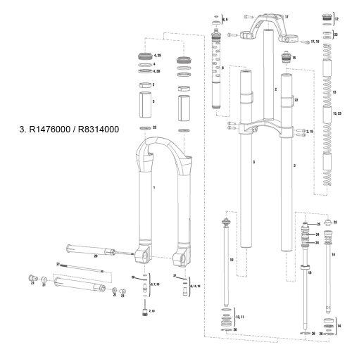 ROCKSHOX   TUBO SUPERIOR PARA HORQUILLAS BOXXER (35 MM  ALUMINIO)  COLOR NEGRO