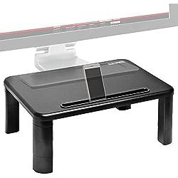 Duronic DM055 Réhausseur d'écran/Support pour écran d'Ordinateur/Ordinateur Portable/écran TV avec Hauteur Ajustable de 4 à 15 cm - Surface de 40 x 28 cm