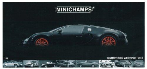 Minichamps - 100110842 - Véhicule Miniature - Modèle À L'Échelle - Bugatti Veyron Super Sport - 2011 - Echelle 1/18