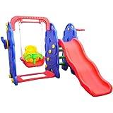 Homcom Kids Garden Playground 3in1 with Swing, Slide and Basketball Hoop Multifunctional