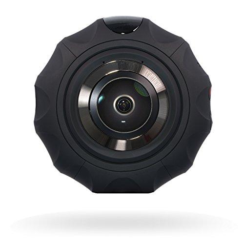 Osmose IOT BirdEyes SPHÄRISCHE 360 GRAD PANORAMA-KAMERA 2x8.0 MP CMOS 4K 30FPS Video 16MP@6080*3040 Pixel Foto | 1600mAh Batterie | Enthält 360° Camera, Tripod, Stativ Hardware und Selfie-Stick (Schwarz)