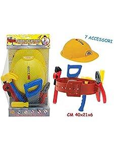TEOREMA-Mr. Boy-Juego Trabajos de construcción con Casco 7Accesorios, 63739