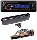 caraudio24 Pioneer DEH-S100UBB CD MP3 1DIN USB AUX Autoradio für Ford Cougar Fiesta Focus Mondeo Puma Klavierlack