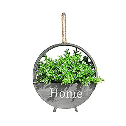 SANNIX Artificial Plants Greeny Wall Flowers For Home Room Garden Wedding Garland Outside Decoration-grey B